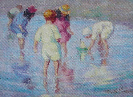 Alice Chittenden - Children at the Beach